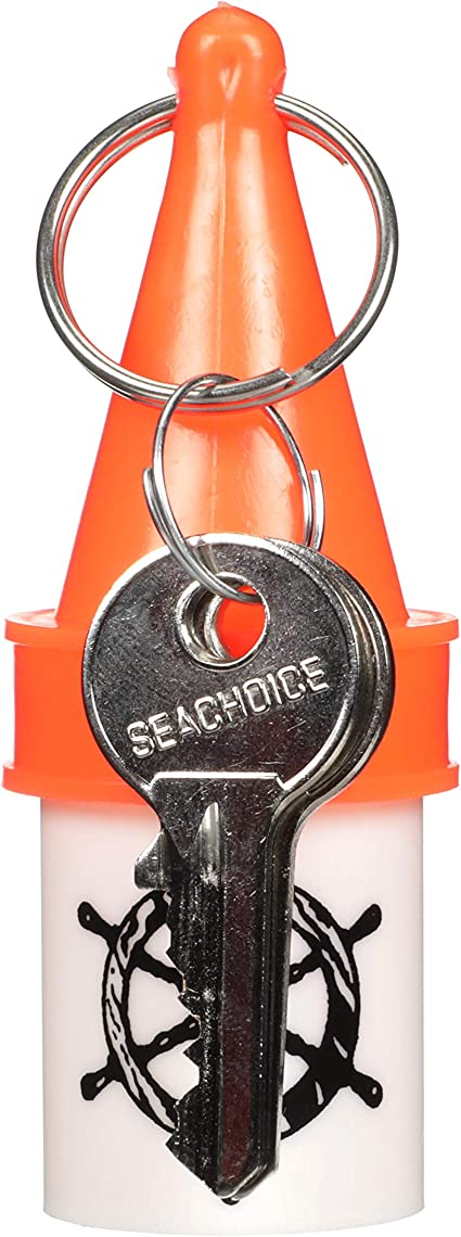 Seachoice High-Visibility Floating Key Buoy with Dry Storage