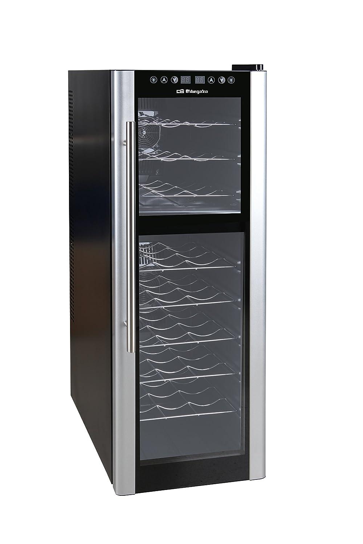 Metal Negro Orbegozo VT-2700 Vinoteca de 27 botellas con display digital