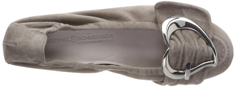 Kennel und Schmenger Braun Damen Malu Geschlossene Ballerinas, Braun Schmenger (Ombra/Silver) 6613f0