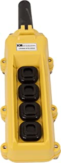 product image for KH Industries CPH04-C1C-000A 4 Push Buttons Pendant Control Switch, 2-Single Speed