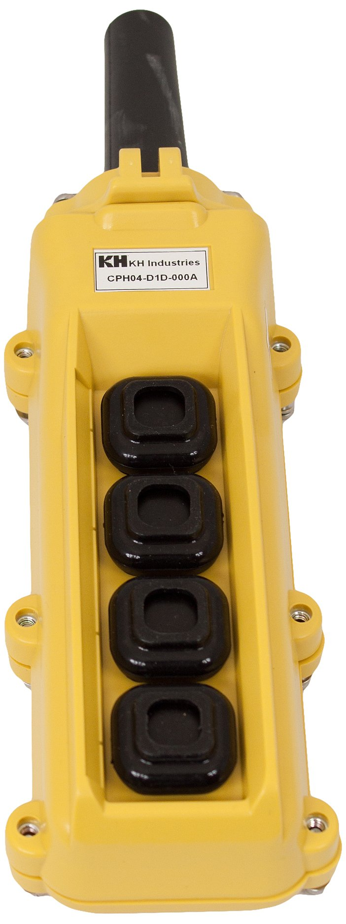 KH Industries CPH04-C1C-000A 4 Push Buttons Pendant Control Switch, 2-Single Speed by KH Industries