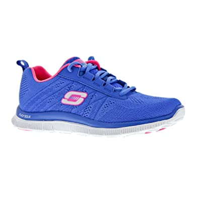 Skechers SK11729 Flex Appeal Memory Foam/Womens Trainers (8 US) (Blue/