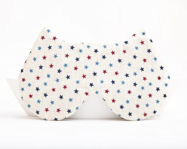 Patriotic Sleep Mask Cat Lover Gift Polka Dots Birthday