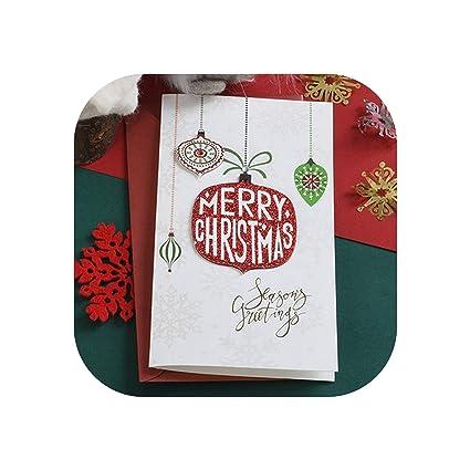 Tarjeta de felicitación de Navidad Tarjeta de mensaje de regalo de ...