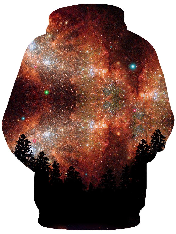 Men/Women Brown Galaxy Wolf 3D Hoodie Print Sportwear Hoody Sweatshirt Funny Pullover Hoodies M