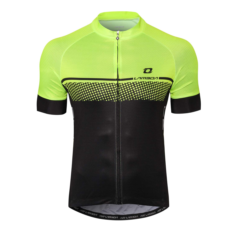 LAMEDA Kurzarm Radtrikot Herren Elastische Atmungsaktive T-Shirt Jersey Funktionsshirt Schnell Trocknen Stoff Fahrradtrikot f/ür Radsport Outdoor Sport
