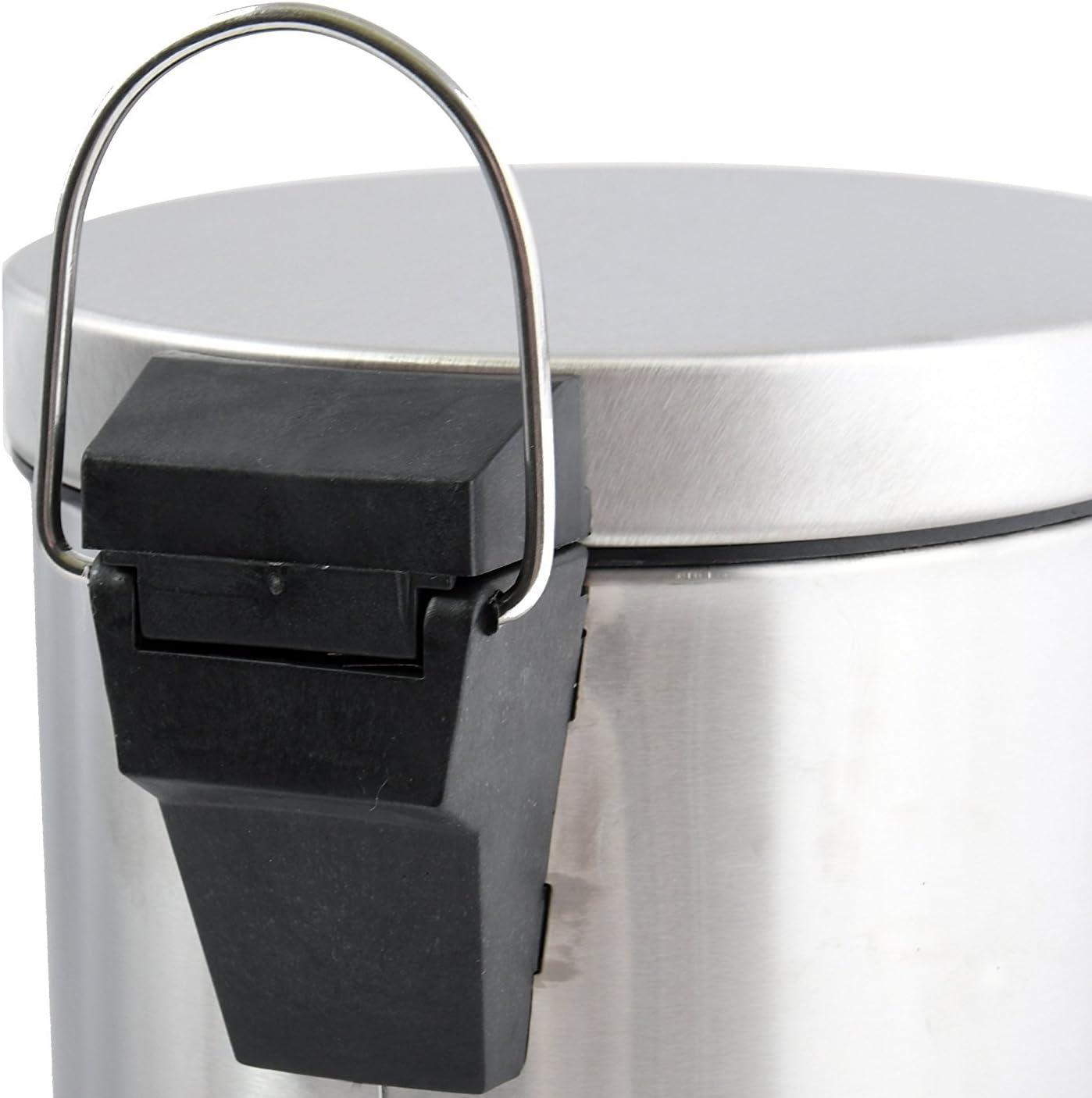 25x20x26 cm MSV 100438 Poubelles /à p/édale 5 litres en Acier Inoxydable Multicolore