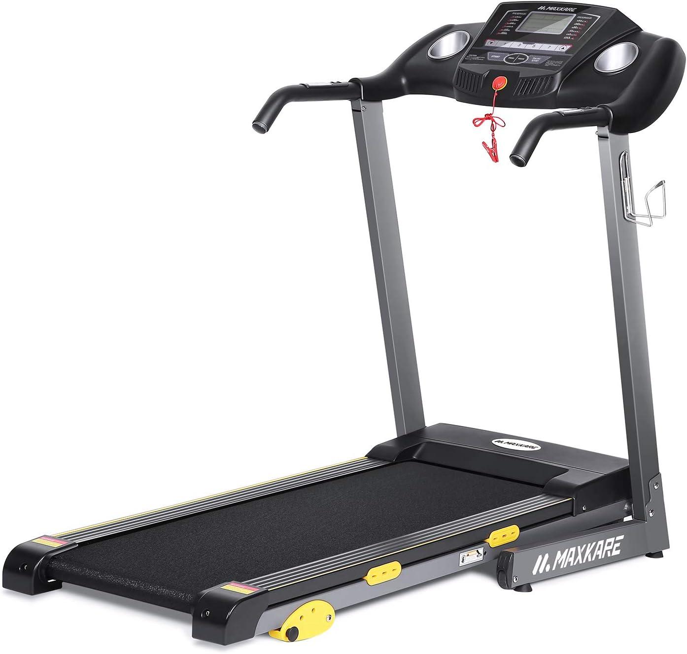 MaxKare Folding Treadmill w/Incline Electric Motorized Running Machine 17'' Wide Tread Belt