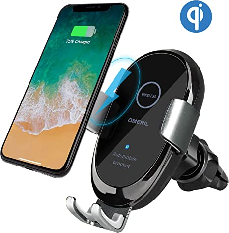 Chargeur sans Fil Voiture, OMERIL Chargeur Rapide Voiture Trou d'Aération Porte téléphone pour S10S10 S10ES9S9 S8S8 S7Note 89 iPhone XSXS