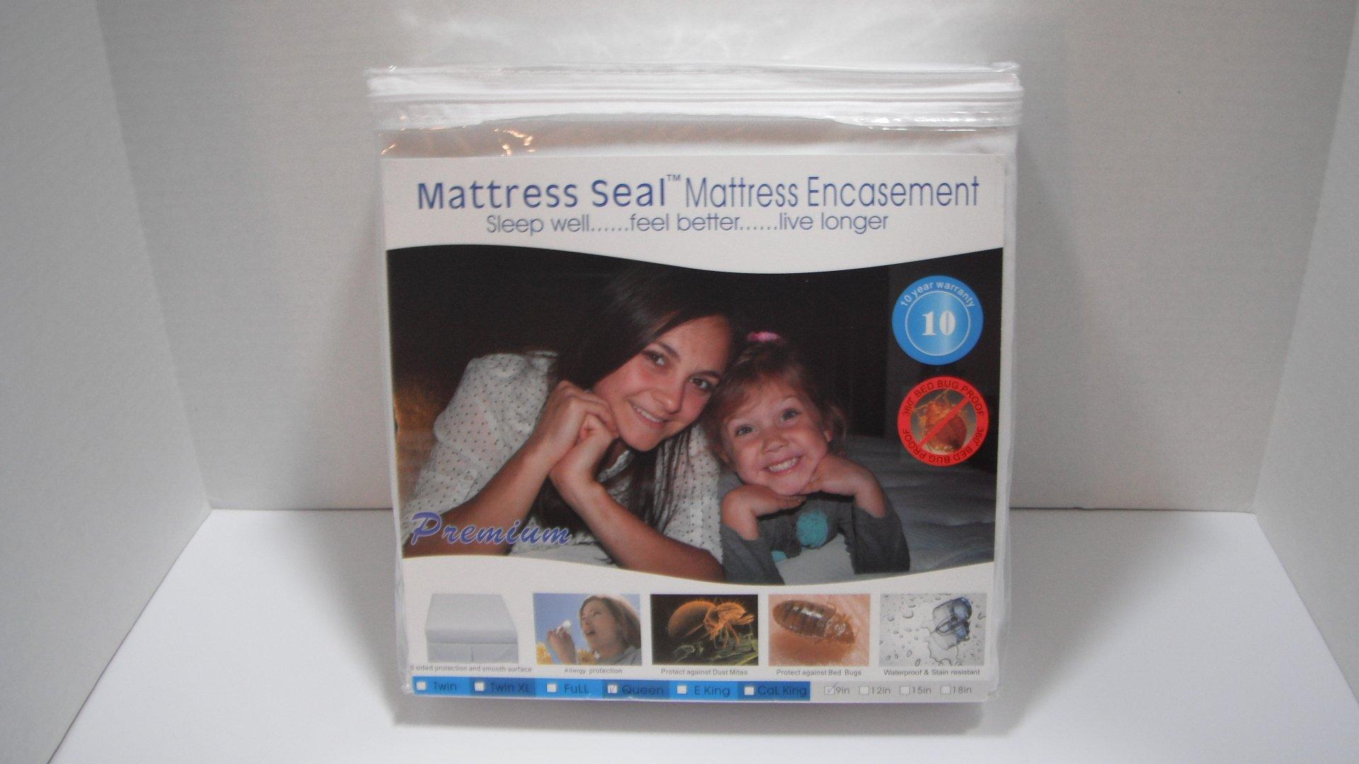 Mattress Seal(TM) Premium Mattress Encasement 9 inch, Twin XL