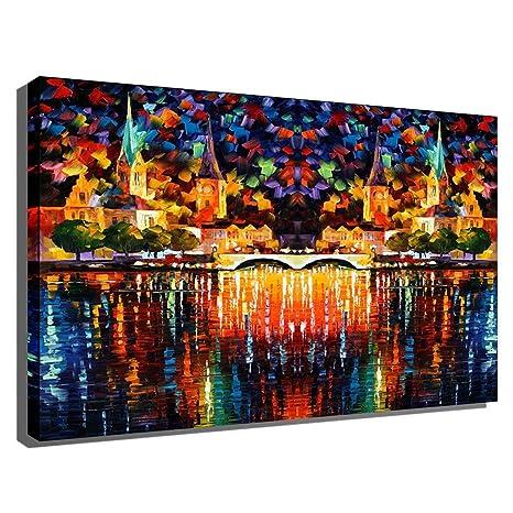 Amazon HUYYA Oil Paintings For Living Room Bedroom Modern