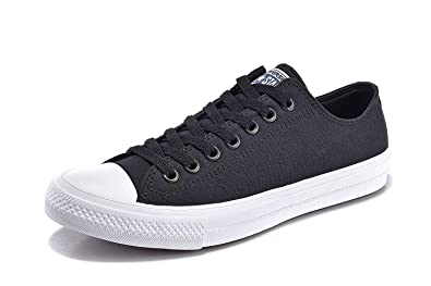 caf50f1c96eaa4 Converse Unisex Low Top Chuck Taylor All Star II Canvas Shoes Black