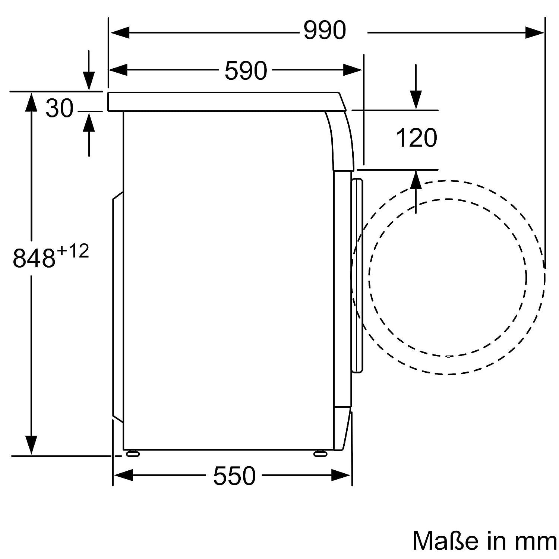 Bosch Lavadora wae282 V7, a + + +, 7 kg, 1400 U/min, eficiencia ...