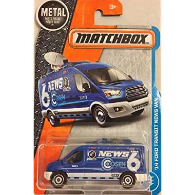 Matchbox 2020 MBX Adventure City '14 Ford Transit News Van 9/125, Blue: Toys & Games