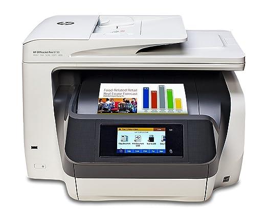 HP OfficeJet Pro 8730 AiO Inyección de Tinta térmica A4 WiFi Gris ...