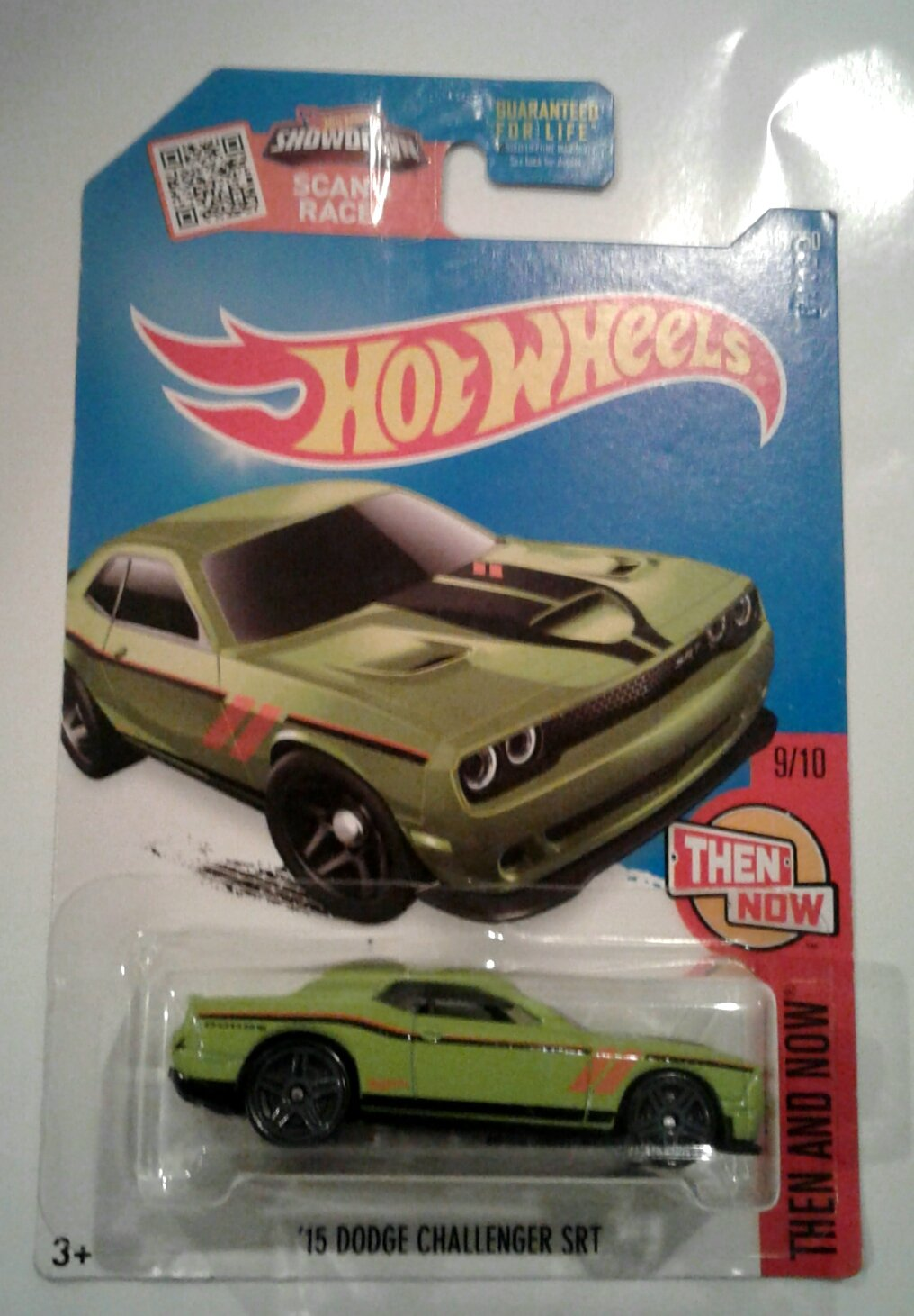 Hot Wheels 2016 Then and Now 15 Dodge Challenger SRT 109//250 Exclusive Lime Green