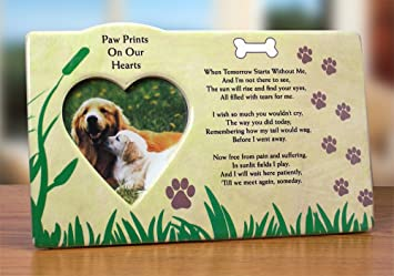 dog bereavement memorial photo frame inspirational picture frame - Dog Frame