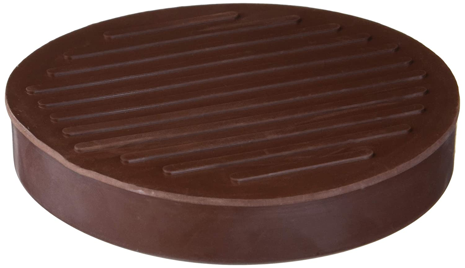 "Shepherd Hardware 9067 Round Rubber Furniture Cups (2 Pack), 3"", Brown"