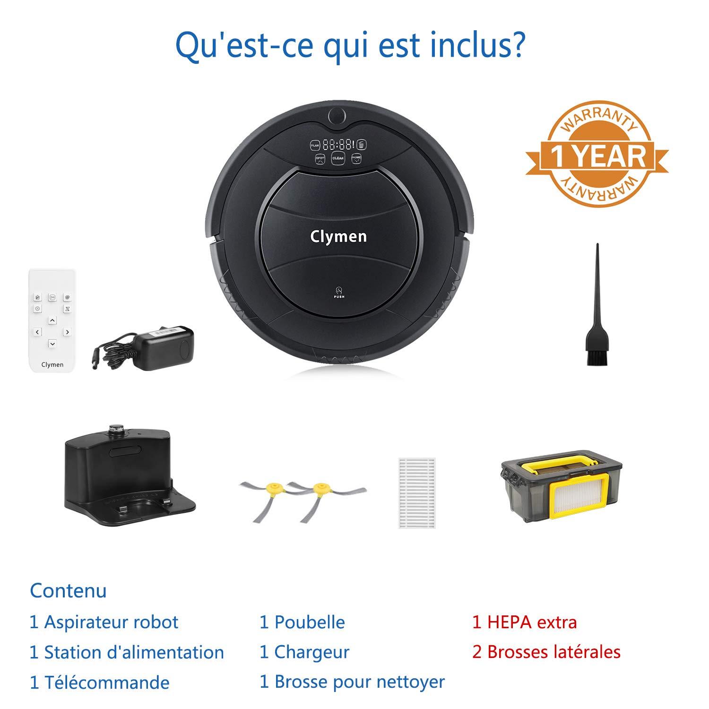 clymen Q7 Robot aspirador - un Robot aspirador limpiador con mando ...