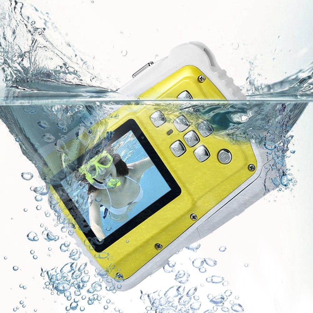PELLOR Digital Kids Cameras Underwater Children Waterproof 8M Pixels Photo Video Camera for Kid CAMR01