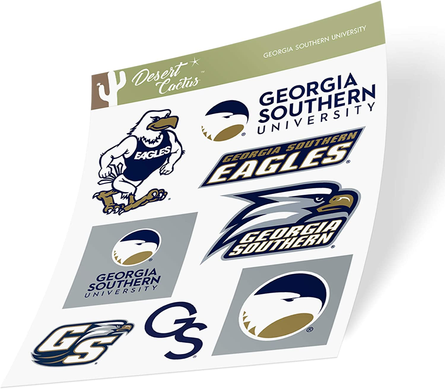 Georgia Southern University GSU Eagles NCAA Sticker Vinyl Decal Laptop Water Bottle Car Scrapbook (Type 2 Sheet)