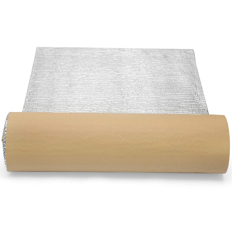 Mophorn Kit dIsolation 1X12m /Épaisseur de 3mm Panneaux Isolants Gamme de temp/érature 40℃-80℃ pour Porte de Garage Tuyau Exterieur Isolant Thermique Aluminium Reflective Foil