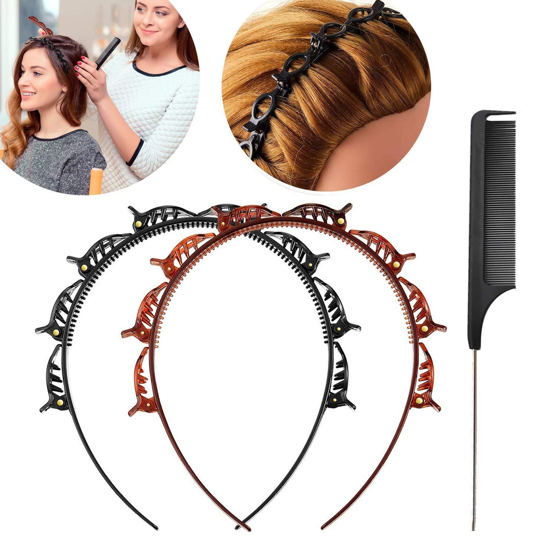 Women Double Layer Bangs Hairpin Hair Clip Headband Hairbands Accessories