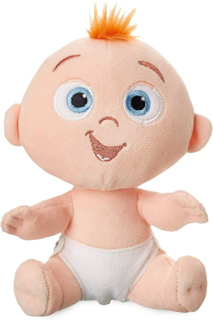 Amazon Com Disney Jack Jack Plush Incredibles 2 Mini Bean Bag 7 Inch Multi Toys Games