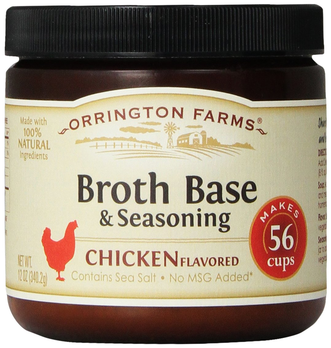 Orrington Farms Chicken Flavored Broth Base & Seasoning, 12-Ounce (Pack of 6)