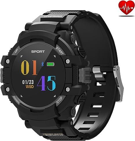 DTNO.I Reloj inteligente, reloj deportivo con altímetrobrújulatermómetro y GPS integrado, rastreador de fitness para correr, senderismo y escalada,