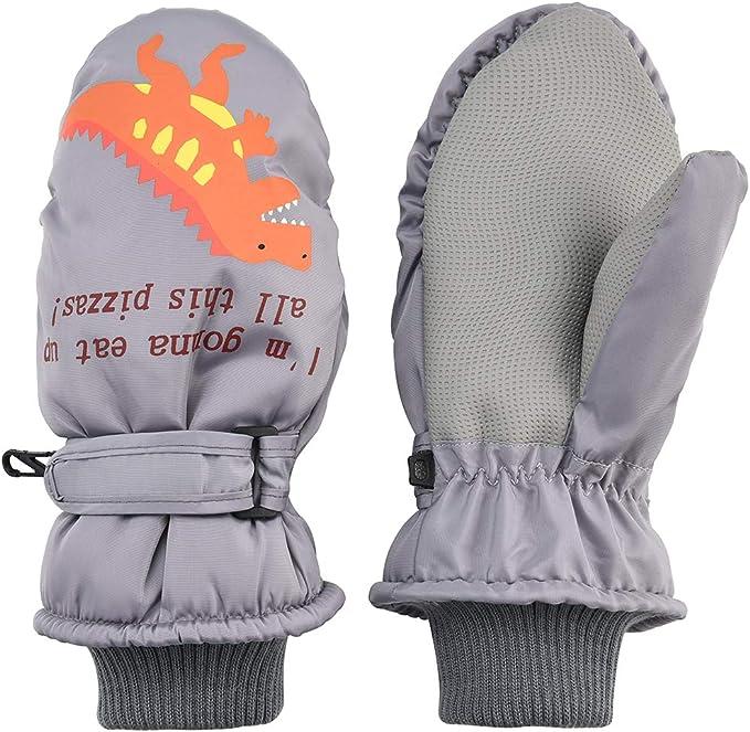 Toddlers Mittens Kids Waterproof Winter Full Finger Magic Snow Ski Gloves Mitts