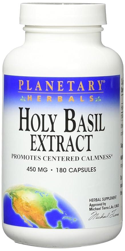 Planetary Herbals - Magnesio santo del extracto 450 de la albahaca. - 180 cápsulas