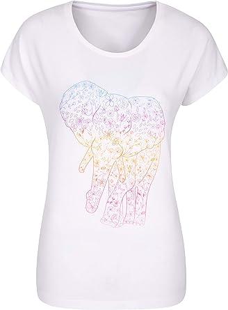 Mountain Warehouse T-Shirt Estampada con Bosque para Mujer - Camiseta Transpirable, Parte de Arriba Secado rápido, Top cómodo - Deporte, Gimnasio, Senderismo, Exterior: Amazon.es: Ropa y accesorios