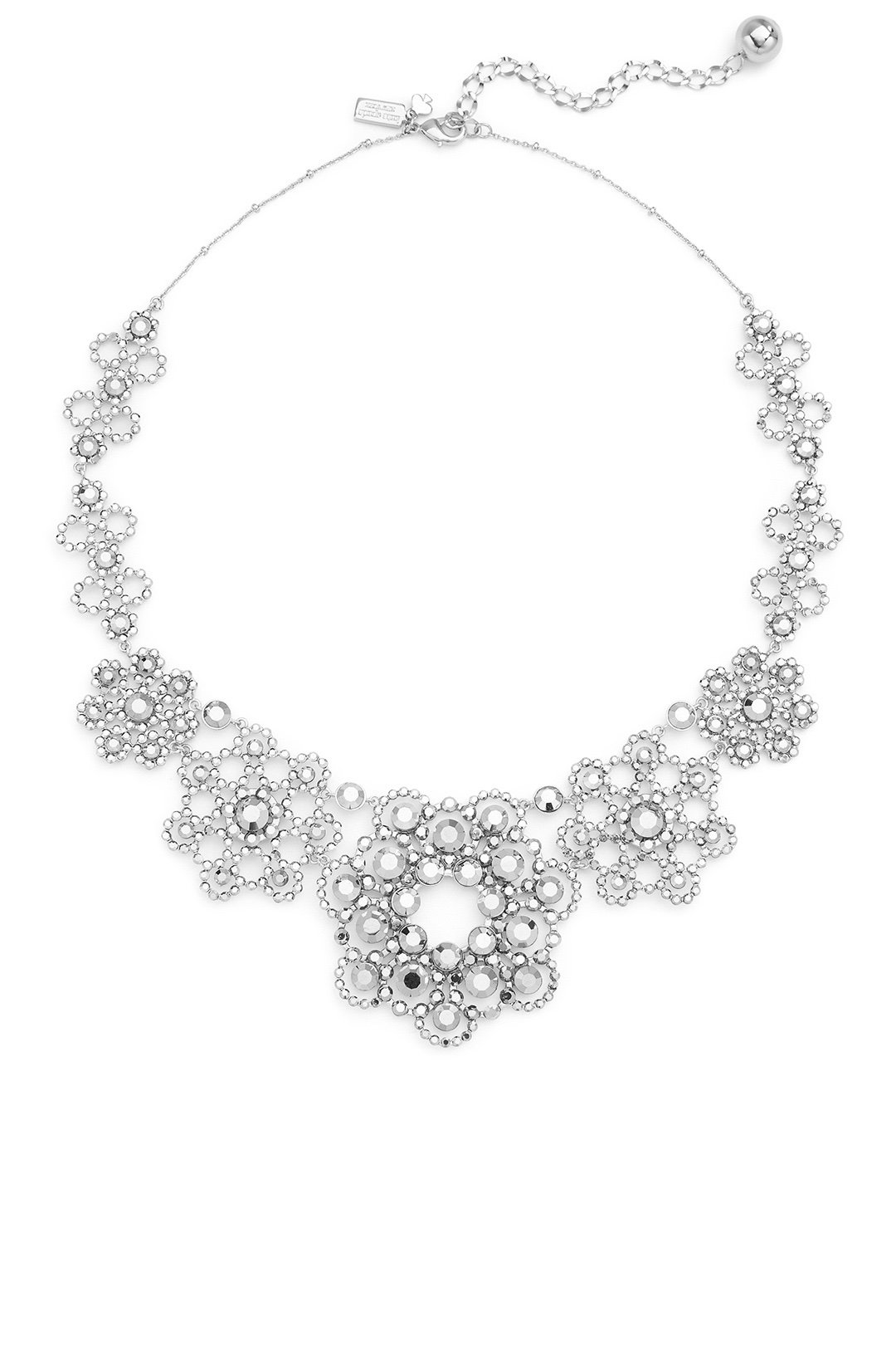 Kate Spade New York Silver Crystal Lace Necklace by Kate Spade New York (Image #1)