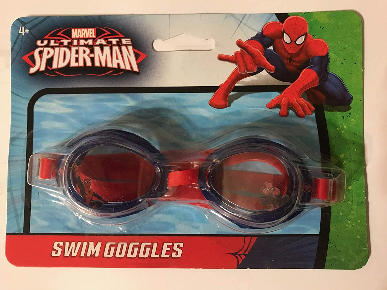 Official Marvel Ultimate Spider-Man 3D Character Travel Swimming Goggles 3+