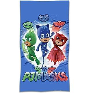 PJ Masks Héroes En Pijamas A95784 Toalla de Playa, Baño, 140 X 70 Centímetros