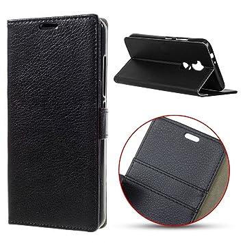 Alcatel A7 XL móvil, MSK® Teléfono Móvil Alcatel A7 XL Case Cover [Litchi Texture] funda cartera Flip Piel Carcasa Móvil Estilo Libro para Alcatel A7 XL: ...