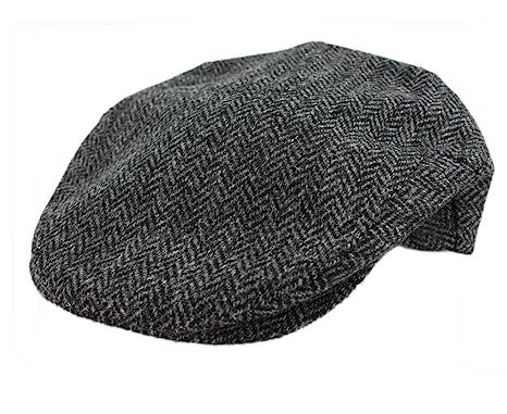 d949820db89 Irish Hats for Men John Hanly Wool Grey Herringbone Made in Ireland Small