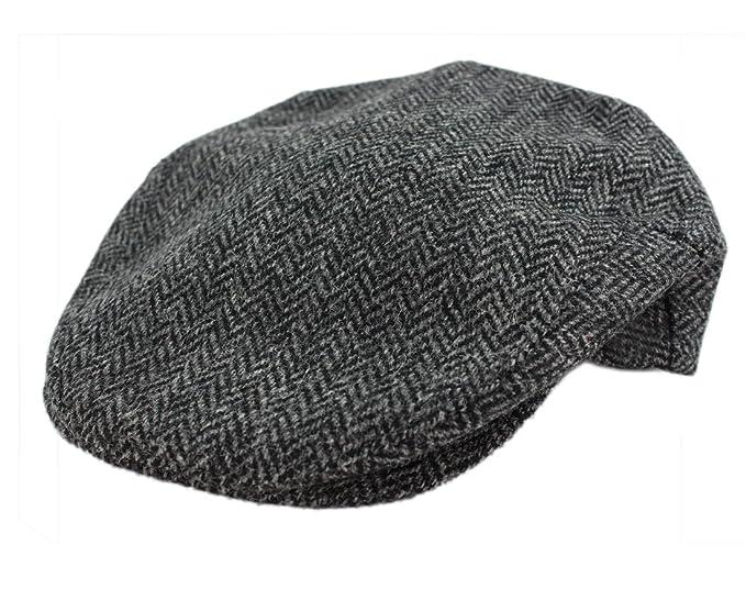599b6bb2d16 Irish Hats for Men John Hanly Wool Grey Herringbone Made in Ireland Small