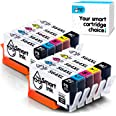 Smart Ink Compatible Ink Cartridges for HP 564 XL 564XL High Yield 10 Pack(2BK, 2PBK & 2C/M/Y) for HP Photosmart 7510 7515 75