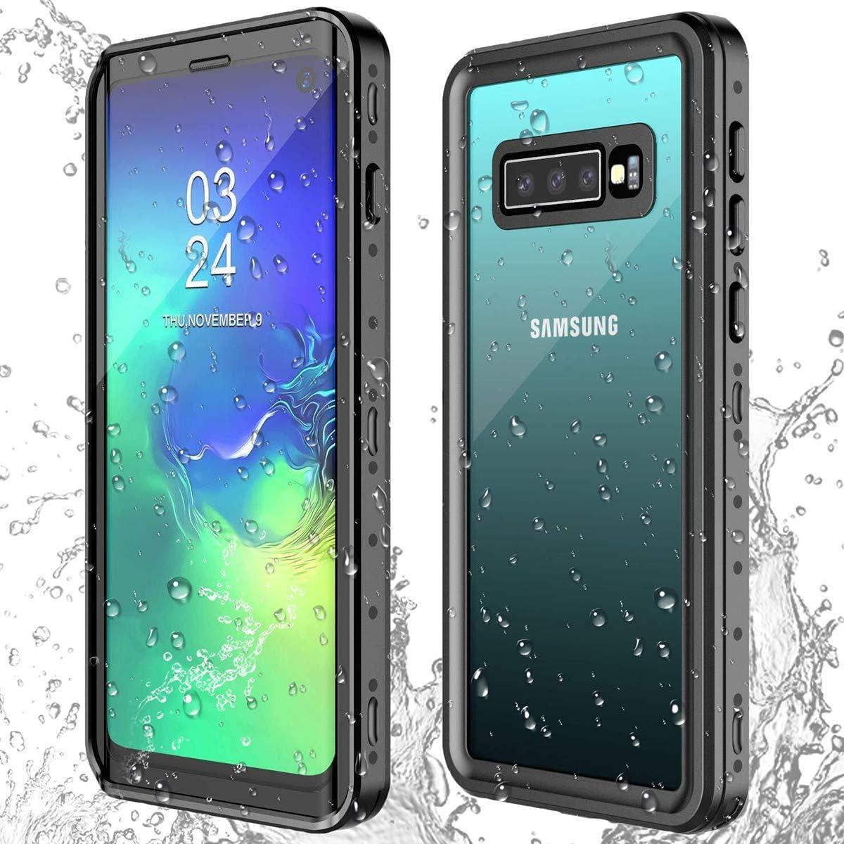 AICase Funda Impermeable Galaxy S10 [Anti-rasguños][Protección de 360 Grados],Case Protectora con Protector de Pantalla Incorporado para Samsung Galaxy S10(Galaxy S10)
