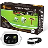 100% Wireless Pet Containment System - Safe & Easy Install WiFi Radio Dog Fence - No Wire, No Dig, No Bury - Rechargeable and Waterproof Collar - Large Coverage Area: 40-500 Ft Radius, up to 17 Acres