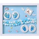 Nifyto Baby Handprint Footprint Ornament Keepsake Maker Kit, Baby Nursery Memory Art Kit, Baby Shower Gifts, Xmas Gifts, Prec