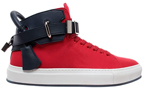 Hombre Red Lock Buscemi Rojo Zapatos Gold Sneakers Ocean 100mm White IYbfy76vg