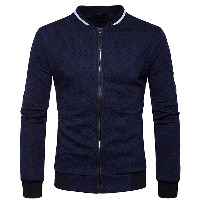 Mens Hoodies Spring Autumn Long Sleeve Jackets Coat Sportswear Male Sweatshirt