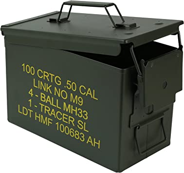 HMF 70011 Caja de Munición, US Ammo Box, Caja de Metal, 30 x 19 x 15,5 cm, Verde: Amazon.es: Hogar