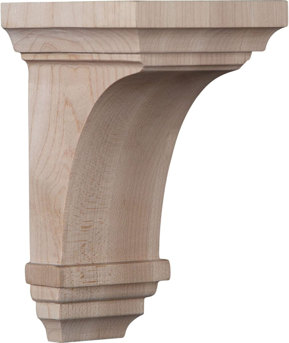 , 2-Pack Red Oak Ekena Millwork BKTW02X04X06GORO-CASE-2 2 1//2 W x 4 D x 6 H Small Gomez Wood Bracket