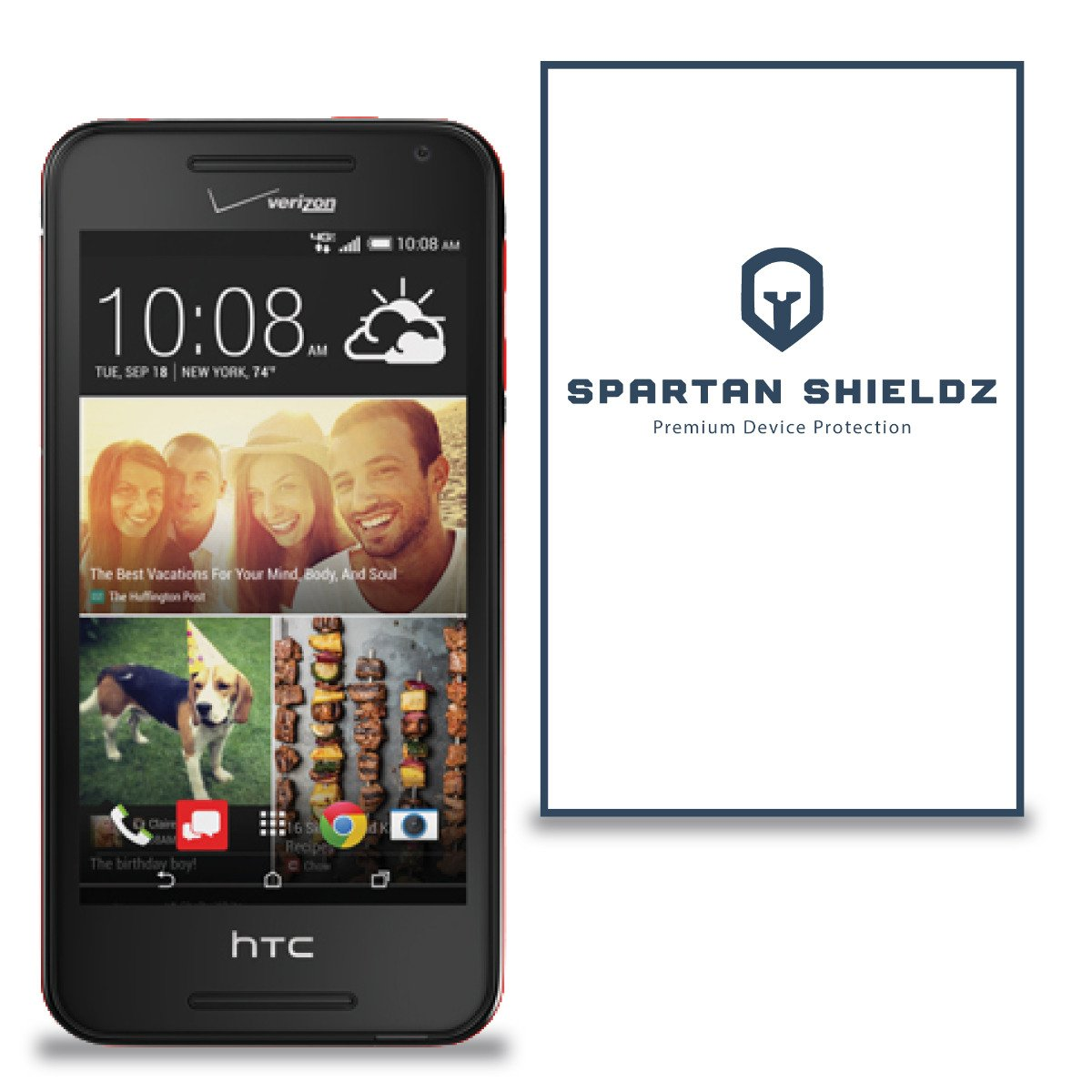 Amazon.com: 6X - Spartan Shields Premium HD Screen Protector Cover For HTC  Desire 612 - 6X: Cell Phones & Accessories