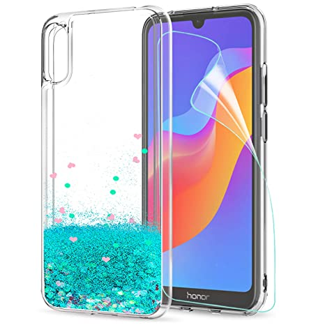 sito affidabile 5b2f6 24fef LeYi Case for Huawei Y6 2019/Honor 8A with Screen Protector, Girl Women 3D  Glitter Liquid Cute Personalised Clear Silicone Gel Shockproof Phone Cover  ...