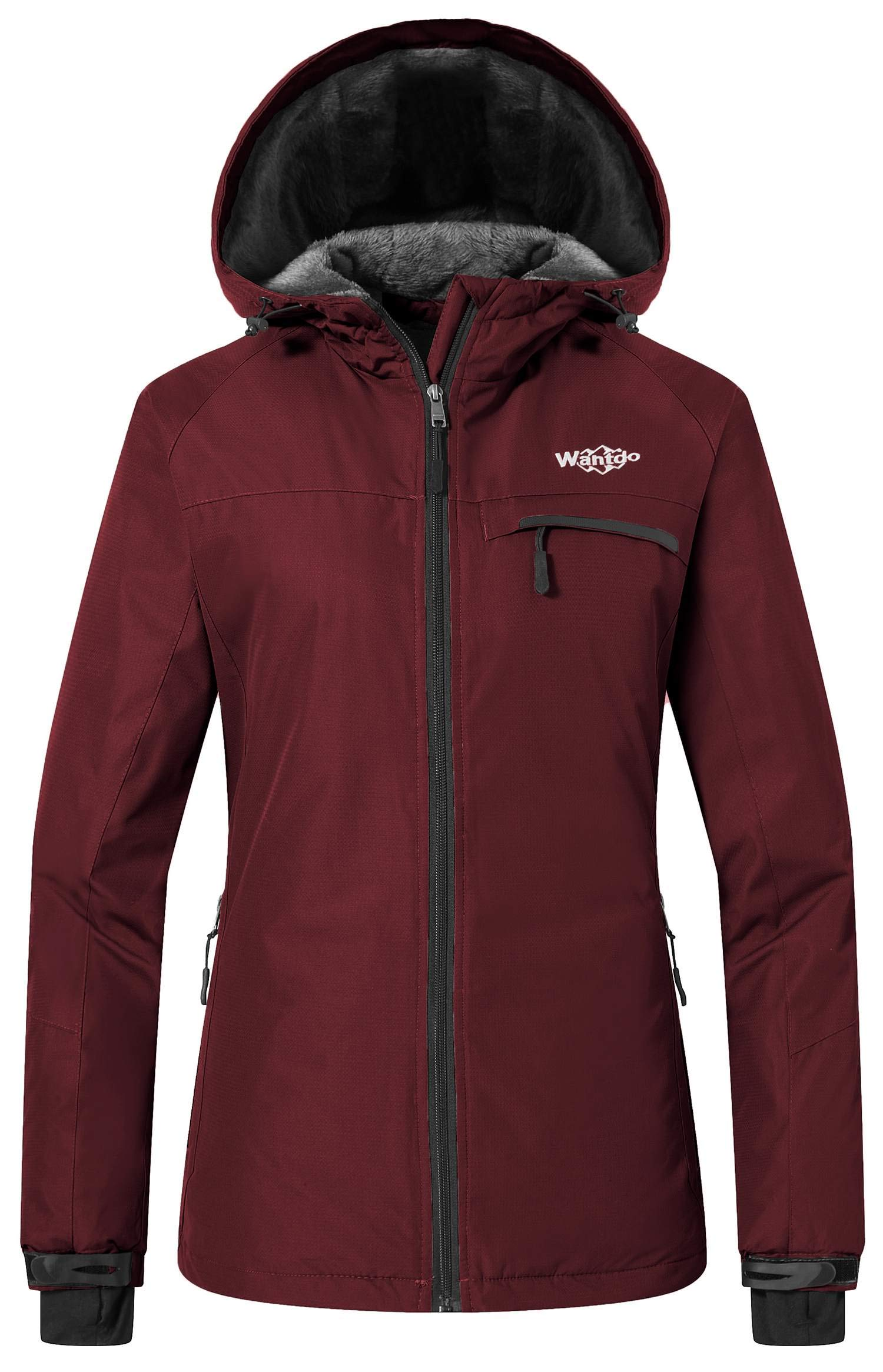 36dbcfc38d5 Wantdo Women s Mountain Ski Jacket Windproof Fleece Snow Coat Rainwear  Waterproof Hooded Warm Parka product image